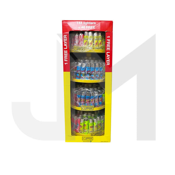 Clipper 4 Tier Filled Display - 192 Mixed Design Lighters - CL3H048UKH