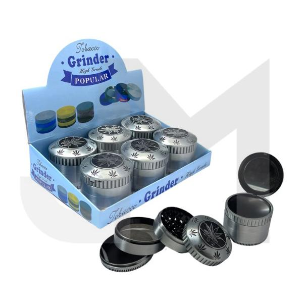 4 Parts Metal Grey 60mm Grinder With Mirror - SMK135K 1MY 02