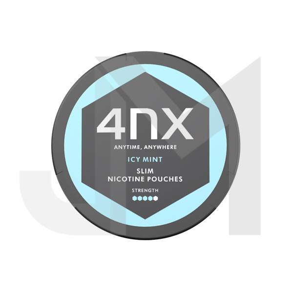 4NX Slim Nicotine Snus Strong 14mg Pouches - Icy Mint
