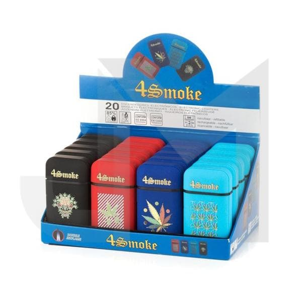 20 x 4smoke Dual Jet Electronic Refillable Lighters - DH750J