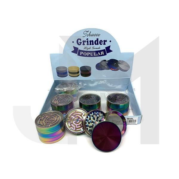 6 x 4Smoke 4 Parts Rainbow Metal Grinder - HX107XC