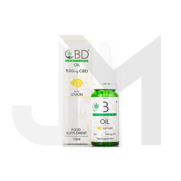 CBD Leafline 500mg CBD Food Supplement Oil 10ml