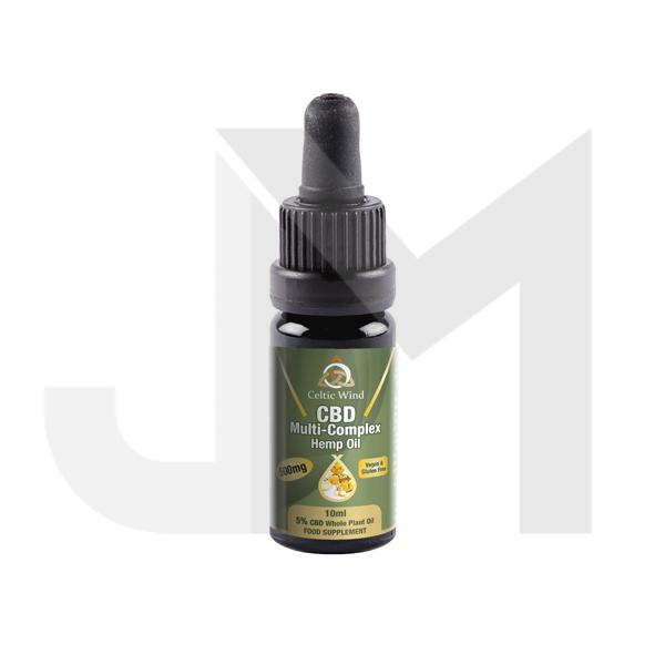 Celtic Wind Crops 500mg CBD Natural Cold Pressed CBD Oil 10ml