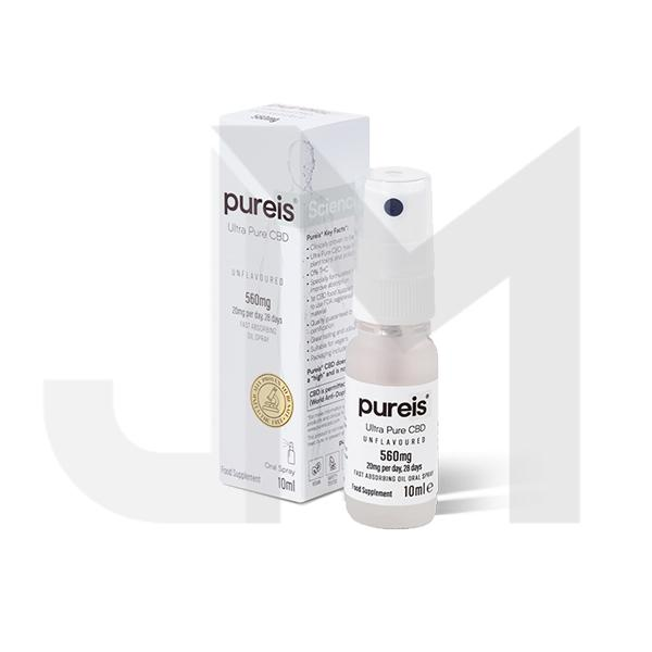 Pureis® CBD 560mg Ultra Pure CBD Oral Spray - Unflavoured