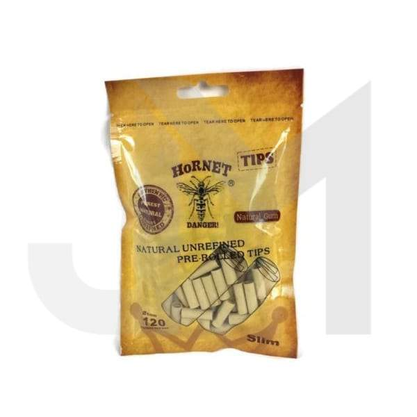 6mm Brown Hornet Natural Unrefined Pre-Rolled Rolling Tips