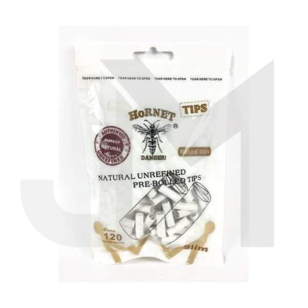 6mm White Hornet Natural Unrefined Pre-Rolled Rolling Tips