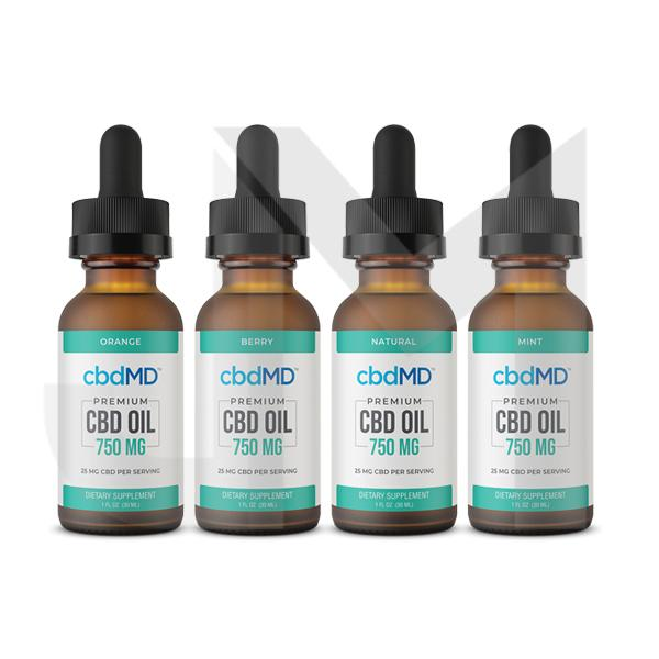 cbdMD 750MG CBD Flavoured Tincture Oil 30ml