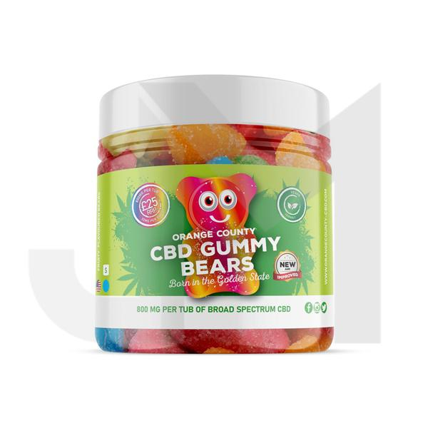 Orange County 800mg CBD Gummy Bears - Small Pack