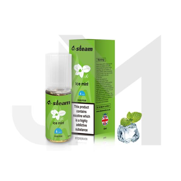 A-Steam Fruit Flavours 3MG 10 x 10ML E-Liquid (50VG/50PG)