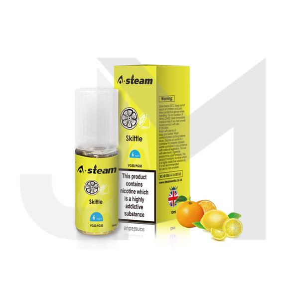 A-Steam Fruit Flavours 6MG 10 x 10ML E-Liquid (50VG/50PG)