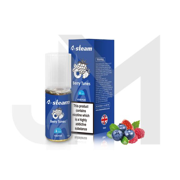 A-Steam Fruit Flavours 18MG 10 x 10ML E-Liquid (50VG/50PG)