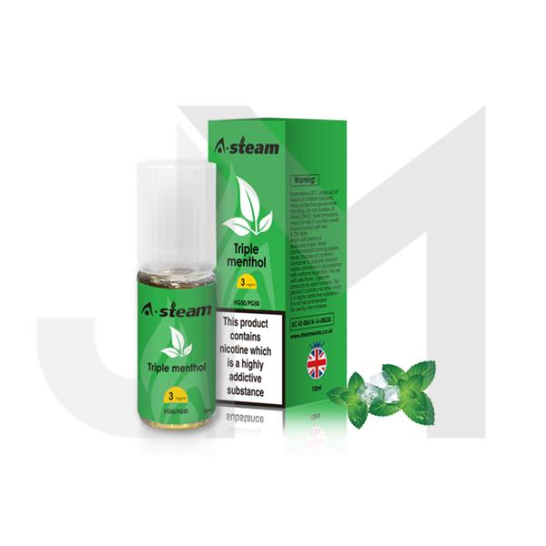 A-Steam Fruit Flavours 12MG 10ML (50VG/50PG)