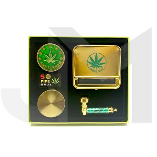 Amsterdam Pipe Gift Set - Gold - TZ103G