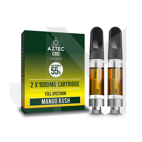 Aztec CBD 2 x 1000mg Cartridge Kit - 1ml
