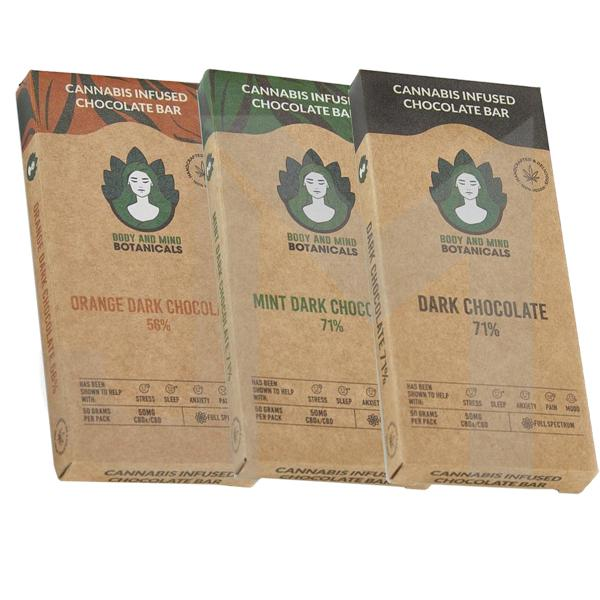 Body and Mind Botanicals 50mg CBD Cannabis Chocolate