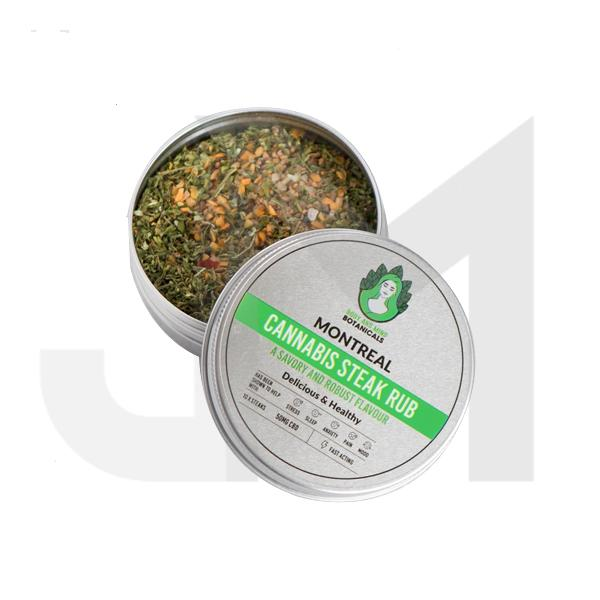 Body and Mind Botanicals 50mg CBD Cannabis Steak Rub - Montreal
