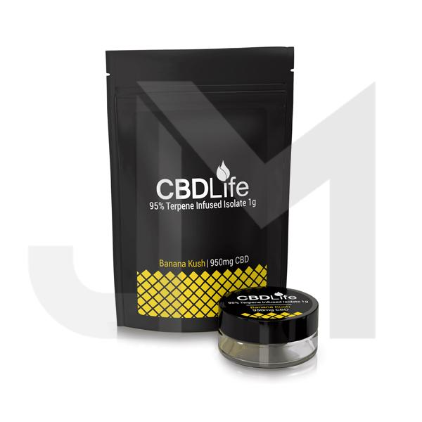 CBDLife 95% CBD Terpene Infused Isolate 1g