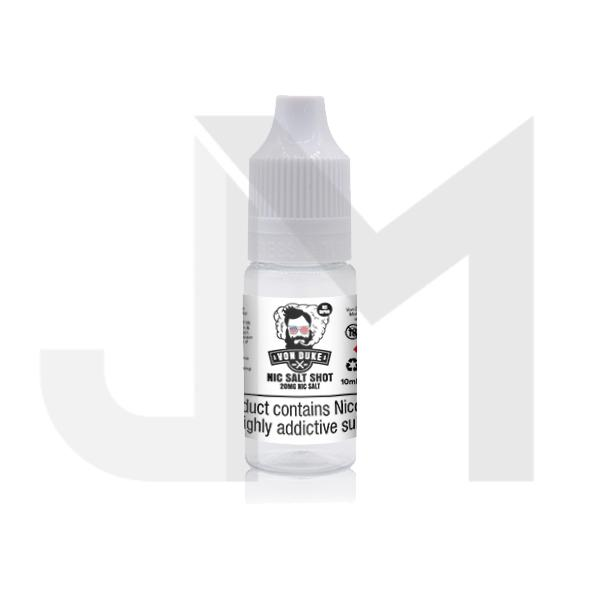 20mg Nic Salt Shot 10ml By Von Duke (50VG/50PG)