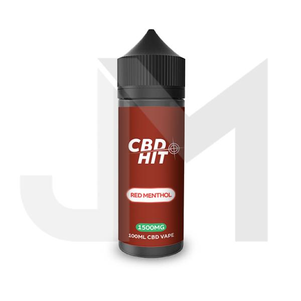 CBD Hit 1500mg CBD Vaping Liquid 100ml (70PG/30VG)