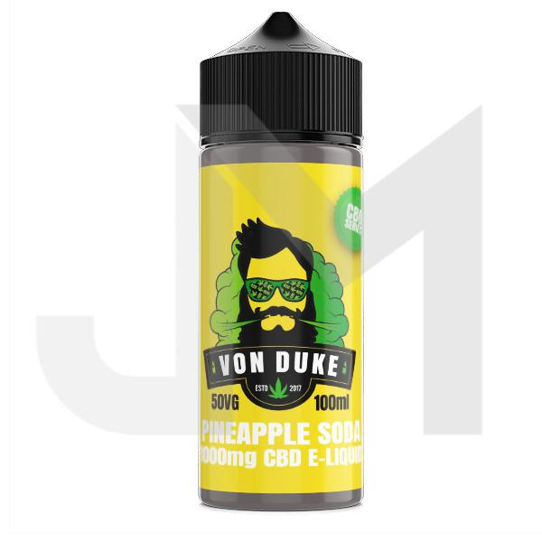 Von Duke 1000mg CBD Vaping Liquid 100ml (50PG/50VG)
