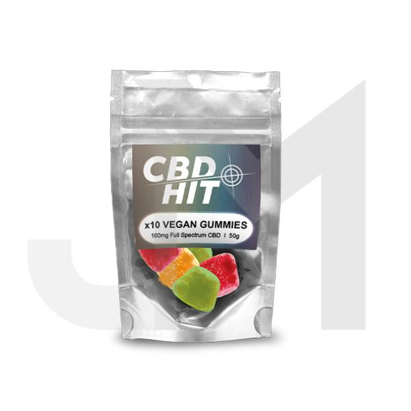 CBD Hit 100mg CBD Vegan Gummies 50g
