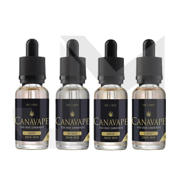 Canavape E-Liquid 200mg CBD + 20mg CBG 20ml