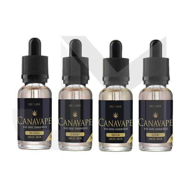 Canavape E-Liquid 400mg CBD + 40mg CBG 20ml
