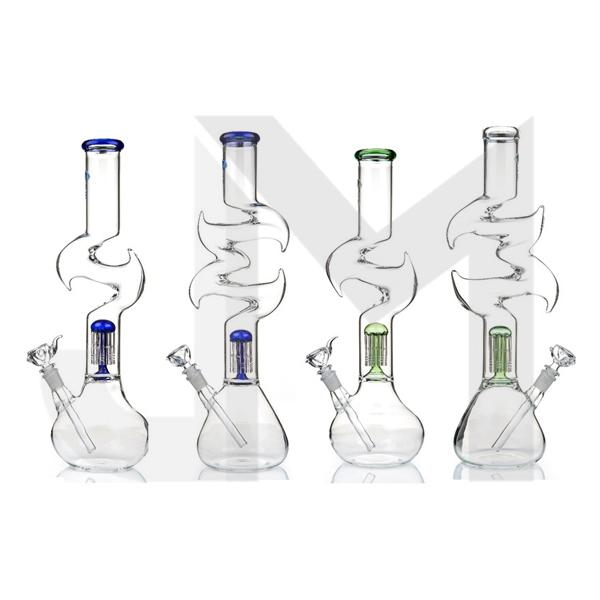 "16"" Zig Zag Percolator Glass Bong GWP-76 (GS0906)"
