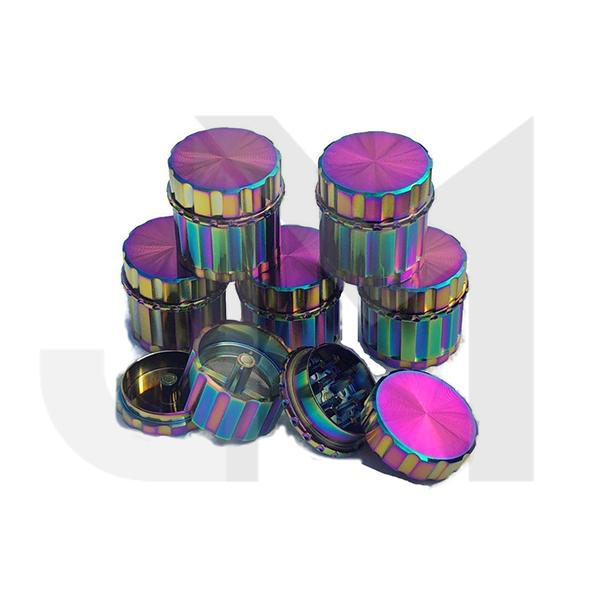 4 Parts Rainbow Design Metal Grinder - HX117XC