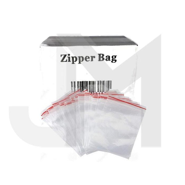 5 x Zipper Branded 75mm x 75mm  Clear Baggies