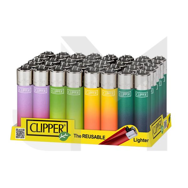 40 Clipper Classic Metallic Gradient Lighters