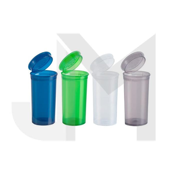315 x 13 Dram Pop Top Storage Bottles - Mixed Colours