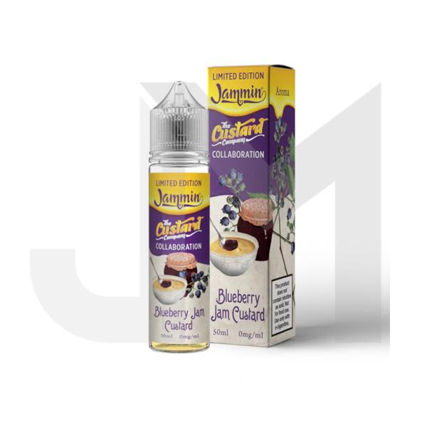 Jammin Limited Edition 0mg 50ml Shortfill (70VG/30PG) - Blueberry Jam Custard