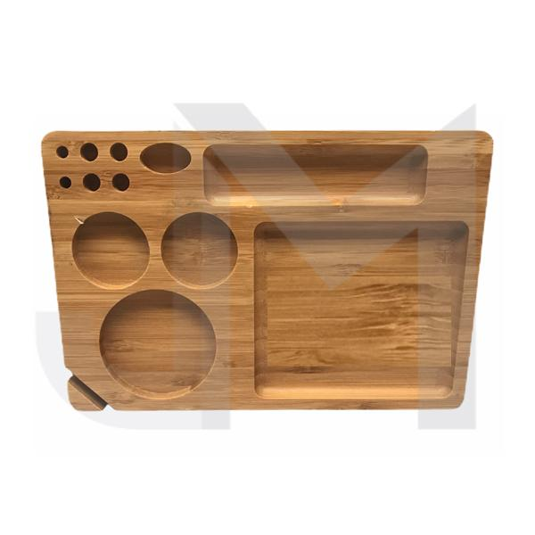 Medium Wooden Rolling Tray with Compartments - TRY-B230x155