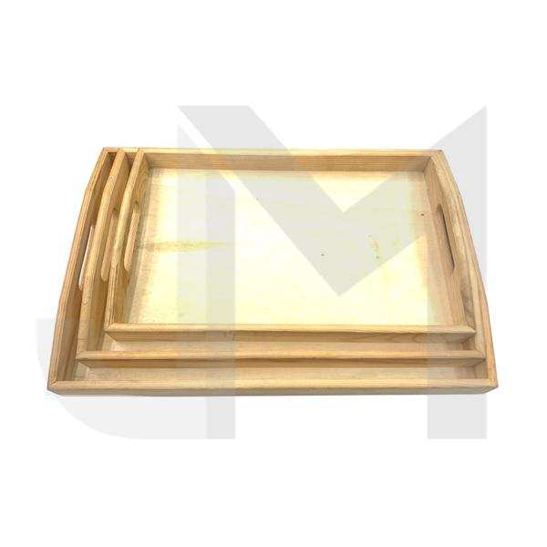 Wooden Rolling Tray Set Pack of 3 - YD021