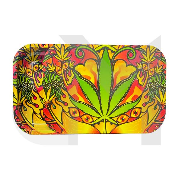 Large Mixed Design Magnetic Metal Rolling Trays with Lid