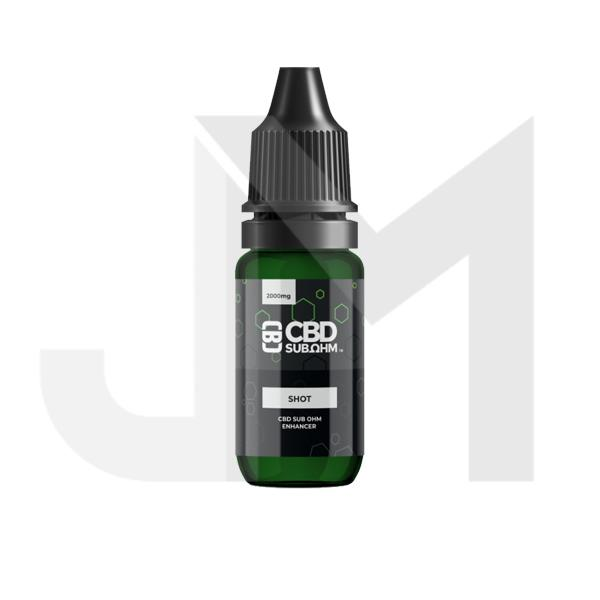 CBD Asylum 2000mg CBD Sub Ohm Shot 10ml (Buy One Get One Free)