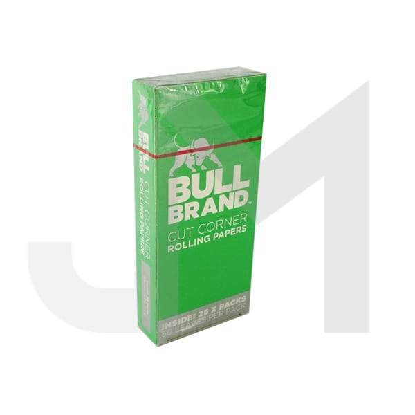 25 Bull Brand Green Cut Corner Rolling Papers