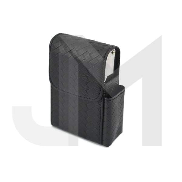 Faux Leather Case Cigarette Pocket Storage Holder