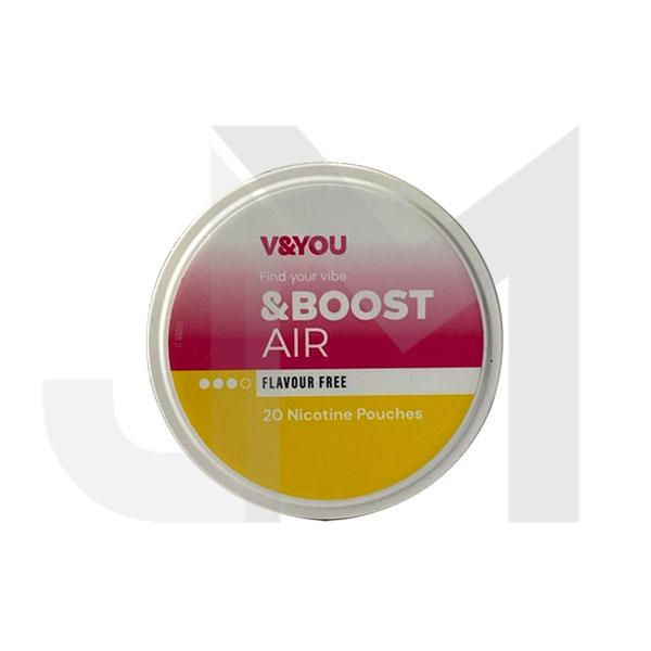 V&YOU &Boost 10mg Nicotine Infused Pouches