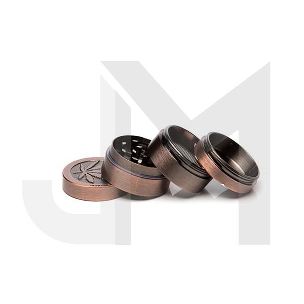 4 Parts Small Metal Bronze Grinder - HX067 Leaf