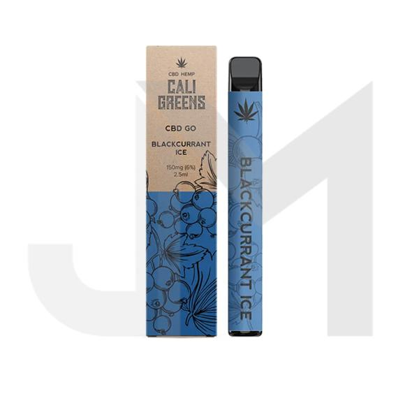 Cali Greens CBD GO 150mg Disposable Vape Pen