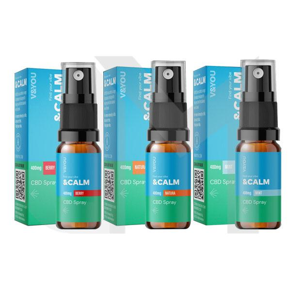 V&YOU CBD &Calm 400mg CBD Spray 10ml