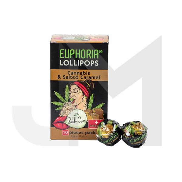 Euphoria Cannabis Lollipops - Cannabis & Salted Caramel