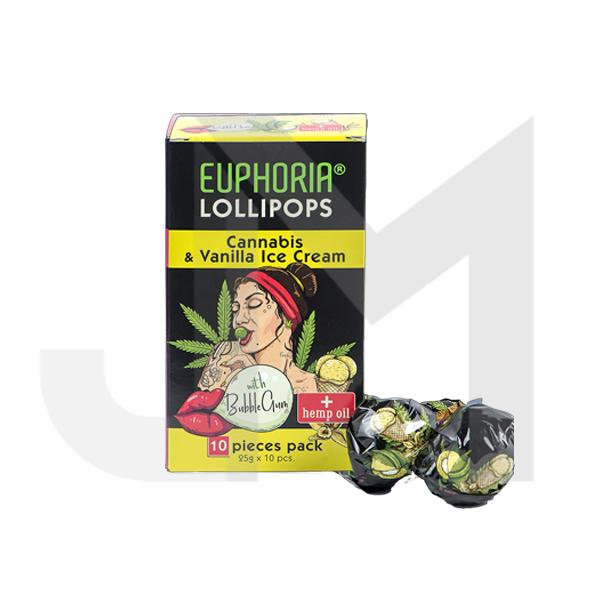 Euphoria Cannabis Lollipops - Cannabis & Vanilla Ice Cream