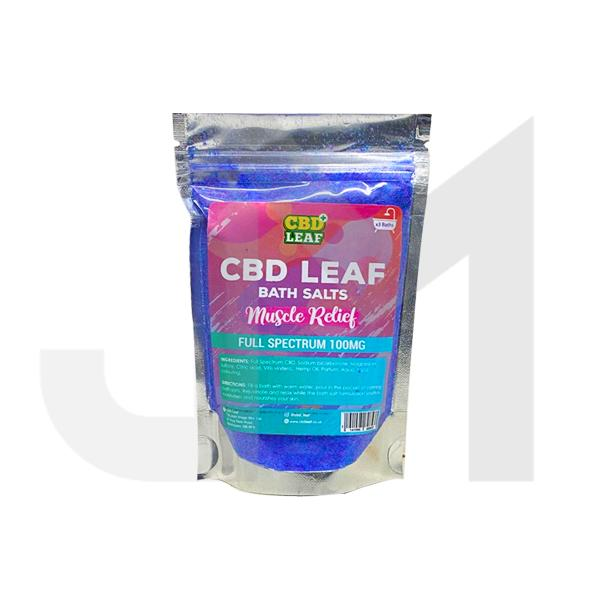 CBD Leaf Full Spectrum 100mg CBD Bath Salts - Muscle Relief