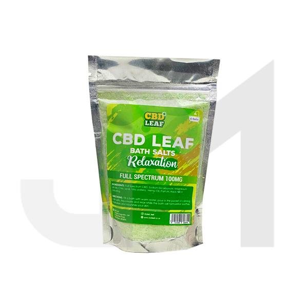 CBD Leaf Full Spectrum 100mg CBD Bath Salts - Relaxation