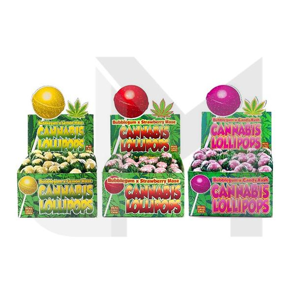 Dr Greenlove Cannabis Lollipops in three flavours