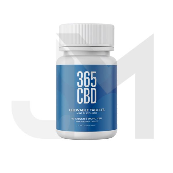 365CBD Chewable Tablets 900mg CBD 60 Tablets
