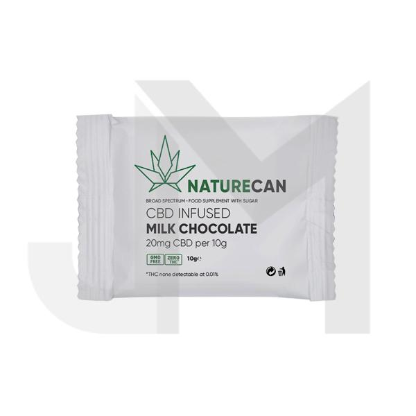 Naturecan 20mg CBD Infused Milk Chocolate 10g